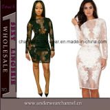 Lady Fashion Lace Bodycon Club Wear Evening Dress (TMK643)