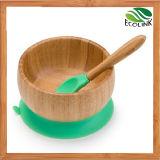 Bamboo Infant Feeding Bowl Baby Suction Bowl