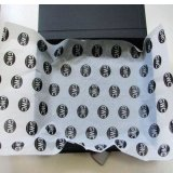 Gift Wrapping Paper with White Black Print