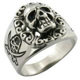 Silver Cool Men Helmet Skull Ring