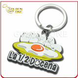 Promotion Gift Embossed Printing Soft PVC Rubber Keychain