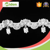 4cm Cheap White Flower Wedding Dress Embroidery Lace