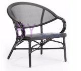 New Design Plush Non-Wood Aluminum Outdoor PE Rattan Arm Chair