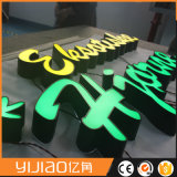 New Metal in Front of Glowing Exposed Luminous Channel Letter Sign
