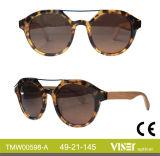 Custom Design Acetate Shape, Wooden and Bamboo Temple Sunglasses (598-A)