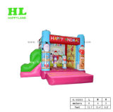 Happy Cute Animal Theme Inflatable Combo with Slide