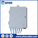 1X2 1X4 PLC Splitter 6core FTTH Mini Fiber Optic Distribute Box (FDB-06A)