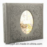Pattern Embossed PU Leather Photo Album with Oval - Shaped Window