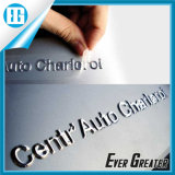 Customized UV Resistant Gold Color 3D Soft Sticker for Cars