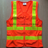 High Quality Best Selling Orange Reflective Safety Vest (accept customized)