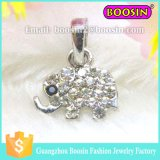 Little Rhinestone Elephant Pendant Jewelry #13672