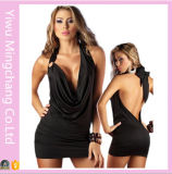 Plus Size Sexy Lingerie Backless Halter Rims Nightclub Dresses 58140