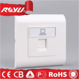 PC Material RJ45 Data Outlet for Computer and iPad Using