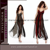 Newest Lady Mesh Long Gown Evening Dress Lingerie (TML8024)