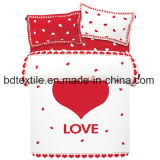 Frame Printed Brushed Microfiber Bed Sheet Fabric for Home Textile