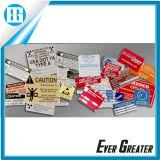 OEM Aluminum ID Plates Sticker Customized Service