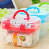 Transparent Handle Box, Storage Container for Household Tool Box