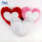 Plush Heart Shape Lovely Sublimation Pillow Case with Pink and Red Cute Color for Little Girl Pillow Cover