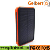 10000mAh Dual Port Waterproof Portable RoHS Solar Cell Phone Charger Power Bank