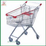 Supermarket Shopping Mall Folding Shopping Trolley (JT-E03)