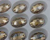 Oval New Facet Cut Sew on Crystal Glass Stones for Wedding Dress Decoration