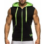 Cool Mens Fitness Sleeveless Hoodies with Custom Logo