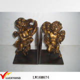 European Vintage Retro Black Angel Metal Bookends