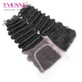 Deep Wave Lace Closure Brazilian Human Hair Closure