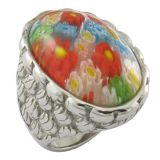 Changeable Stone Muti-Color Western Style Ring