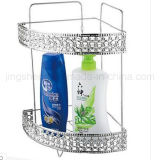 Anti-Rusted Metal Wire 2-Tiers Bathroom Corner Shelf