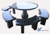 Natural Black Granite Table and Chair for Garden/Outdoor