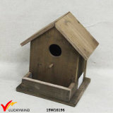 Antique Natural Wooden Old Fashioned Decorative Pick Birdhouse
