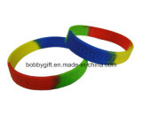 High Quality Rainbow Colorful Silicone Bracelet