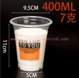Custom Disposable PP Plastic Drinking Cups/ Water Cup, 400ml