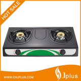 Portable Gas Stove with Two Burner Non Stick Gas Cooker Jp-Gc206ts