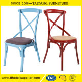 Chinese Factory Classical Metal Back Cross Chair
