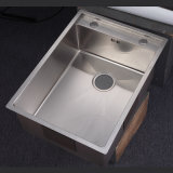 6245 Drop-in Single Bowl Hand Made Sinks Undermount Stainless Steel Kitchen Sink
