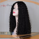 Afro Curly Jet Black Color Full Hand Tied Front Human Hair Wig