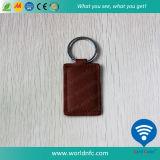13.56MHz Mf S50 Smart RFID Leather Keyfob/Key Tag/Keychain