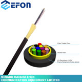 Flame Resistant Tight Buffer Micro Outdoor Drop Fiber Optic Cable with LSZH Outer Sheath