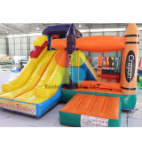 Party Rental Inflatable Crayon Jumping Combo /Inflatable Bouncy Castle for Kids