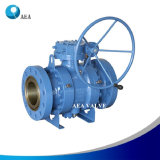 Cast Steel Wcb Gear Operated Flanged Trunnion Mounted Ball Valve