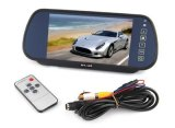 "7"" TFT LCD Color Screen 7 Inch Car Rearview Mirror Monitor Connect to Backup Camera / DVD with 2 Video Input DC 12V PAL/NTSC"