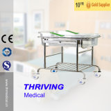 Stainless Steel Infant Bed with Trolleys