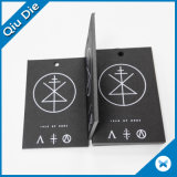 Black Paper One Side Printing Hangtag for Clothing