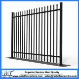 Powder Coated Spear Top Tubular Steel Fencing Panel