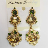 New Item Unique Glass Stones Fashion Jewellery Earrings