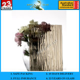 3-8mm Bronze Raindown Patterned Figured Glass with Ce and AS/NZS2208: 1996
