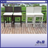 New Outdoor Stainless Steel Wicker Patio Dining Rattan Dining Set, Garden Wicker Furniture (J408)