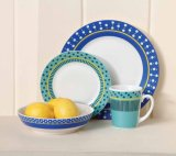 ODM Custom Ceramic Dinnerware Set Blue White